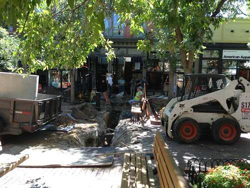 Repairs, Pearl St. Mall, Boulder
