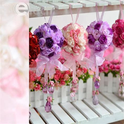Silk Rose Wedding Flower Kissing Ball Arch Decoration   eBay
