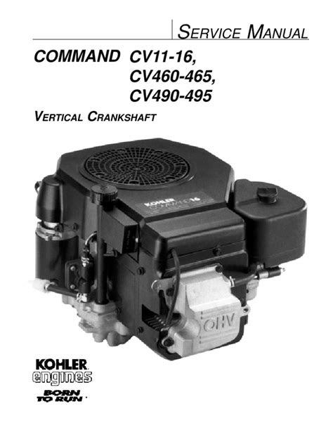 Kohler Command 16HP Vertical Shaft Engine Service Manual
