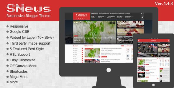 SNews - News Magazine Responsive Blogger Theme v1.4.3
