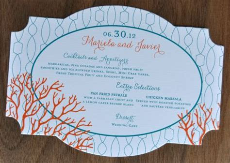 Claire Die Cut Menu Cards   Wiregrass Weddings