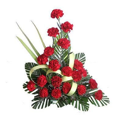 Buy Flower Arrangement Red Carnations Online Best Prices In