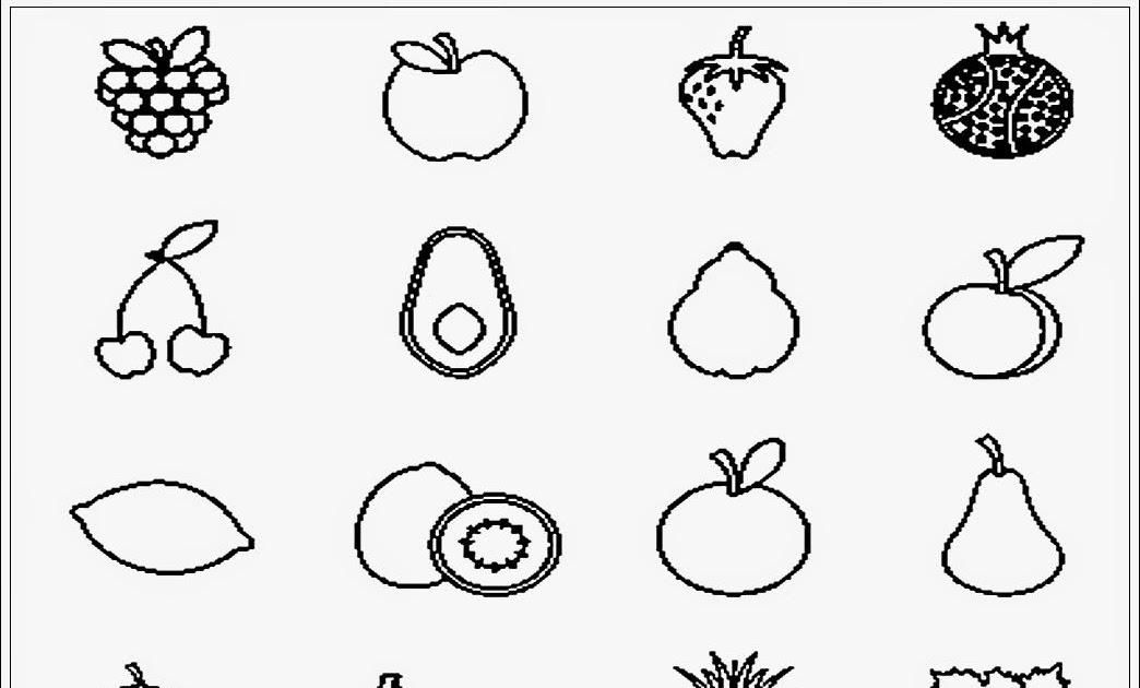 contoh gambar buah buahan untuk anak tk