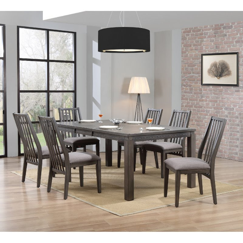 Contemporary Gray 7 Piece Dining Set Hartford Rc Willey Furniture Store