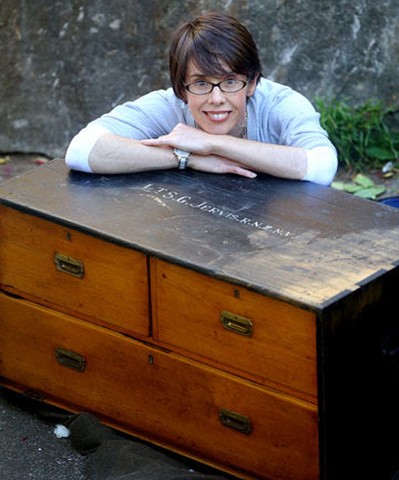 Brigid Borlase bought an officer's cabin trunk on Trade Me which had belonged to her grandfather, Stanley Jervis.