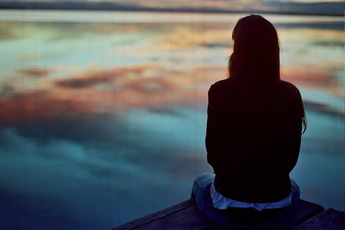 LE LOVE BLOG LETTING GO STORY GIRL SITTING ALONE AT THE WATER Untitled by buenaventura marco, on Flickr