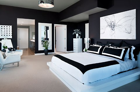 black and white interior design bedroom 11 - Interior design