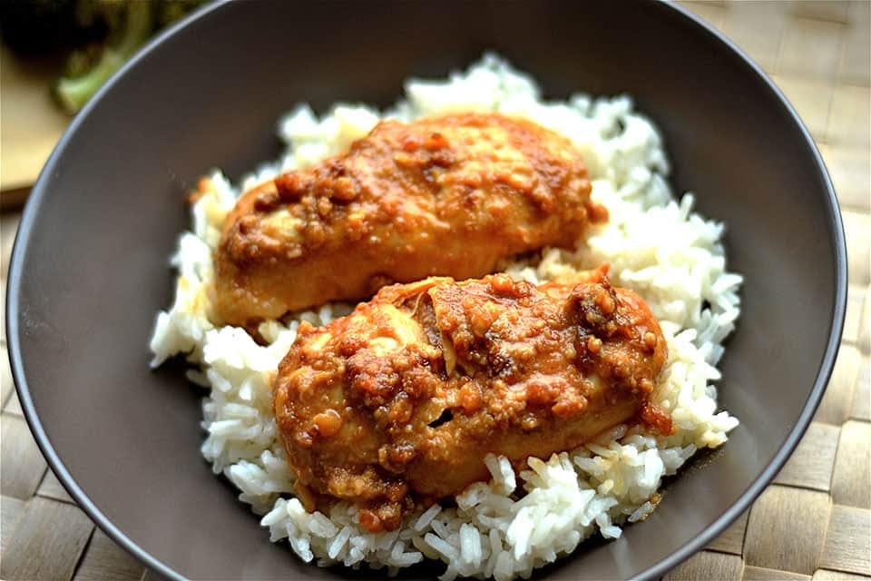 Image result for peanut butter chicken