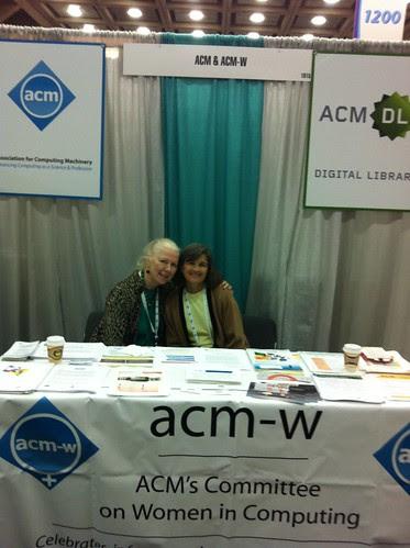 ACM-W Booth