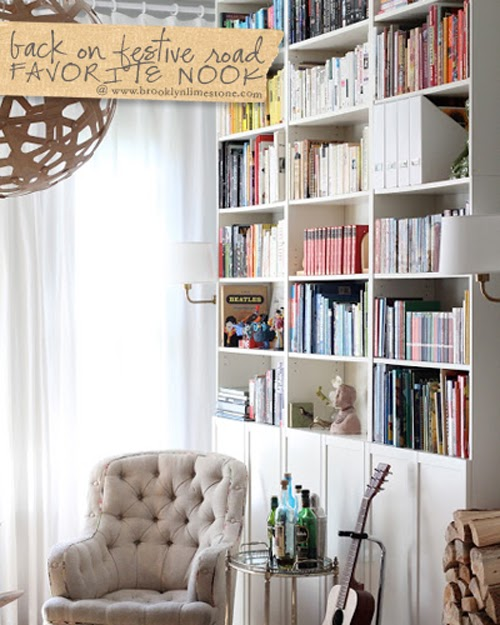 Make A Living Room A Library: My Favorite Nook: Stylish Music Room / Library
