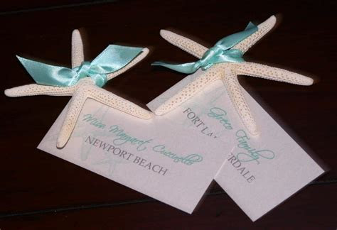 Starfish Wedding Place Cards   Too Chic & Little Shab