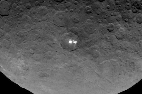 Pontos brilhante em Ceres