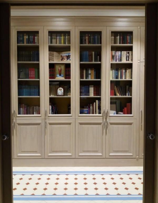 librerie su misura classiche laccate trento