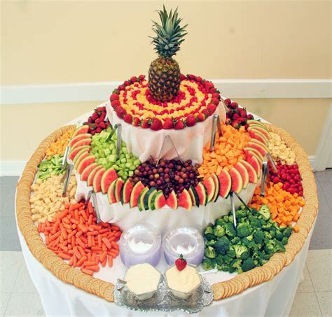 Our Stunning Fruit, Cheese and Vegetable Tower with Dips