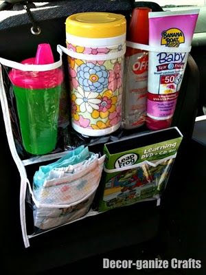 Car Organizer using a Shoe Organizer