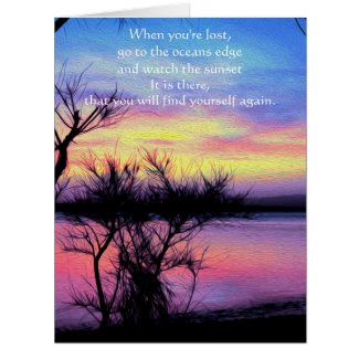 Sunsets Without You Greeting Card