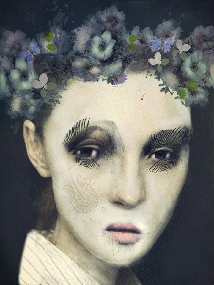 Sarah Jarrett - couronne de fleurs