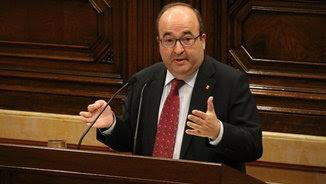 Miquel Iceta, president del grup parlamentari Socialistes i Units per Avançar, durant la seva primera intervenció en el debat de política general (ACN)