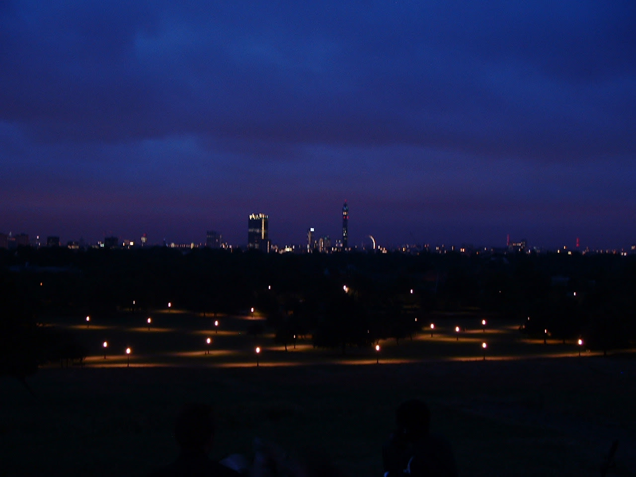 London from Primerose Hill, 4.20am