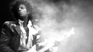 "Singer and songwriter Prince performs onstage during his Purple Rain Tour in 1984. The artist, who pioneered ""the Minneapolis sound"" and took on the music industry in his fight for creative freedom, <a href=""http://www.cnn.com/2016/04/21/entertainment/prince-estate-death/index.html"" target=""_blank"">died</a> Thursday, April 21, at age 57."