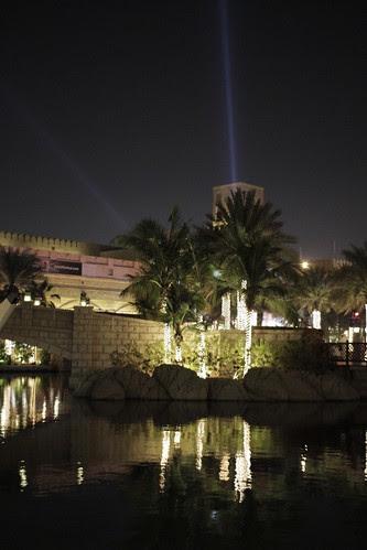 Madinat Arena at night