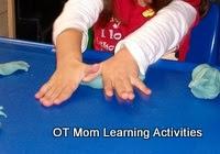 ejercicios de jardín de infantes a mano de rodadura plastilina