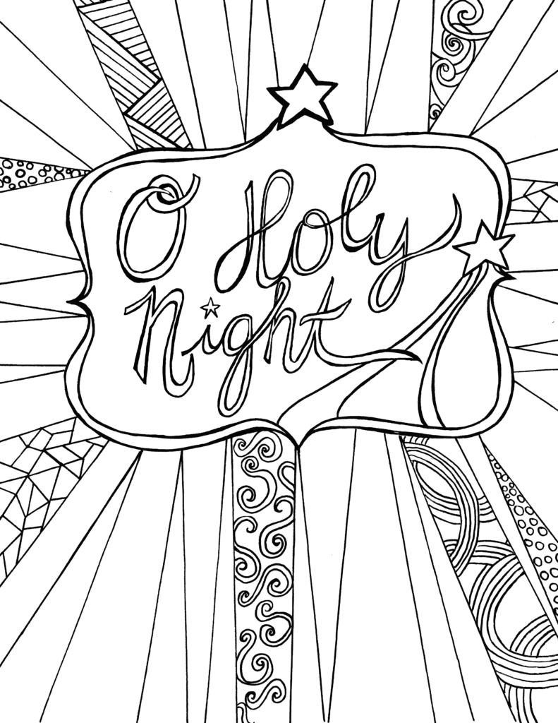 O Holy Night - Free Adult Coloring Sheet Printable ...