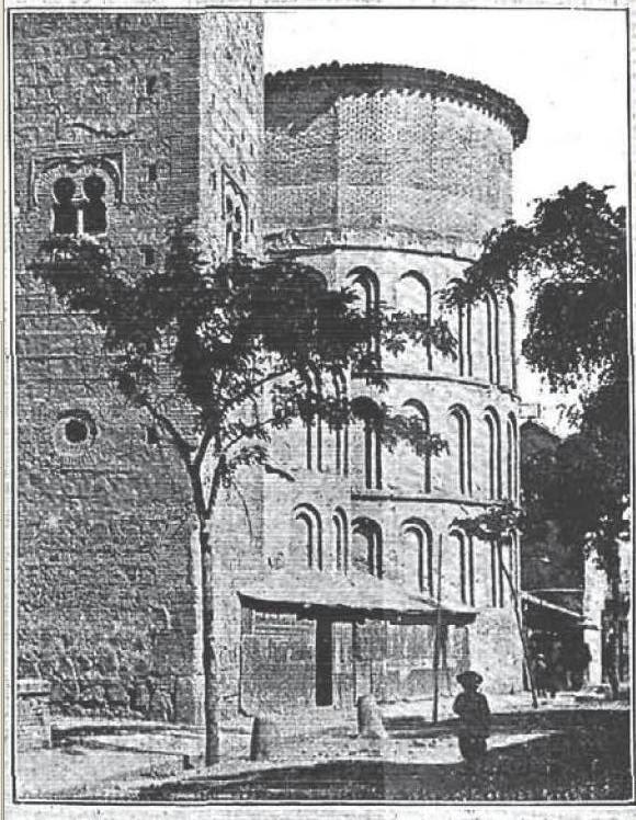 Ábside mudéjar de Santiago del Arrabal en 1904. La Ilustración Española y Americana