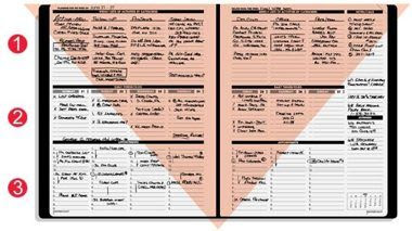 Daily Planner For The Professional Salesperson   Daily Agenda Calendar
