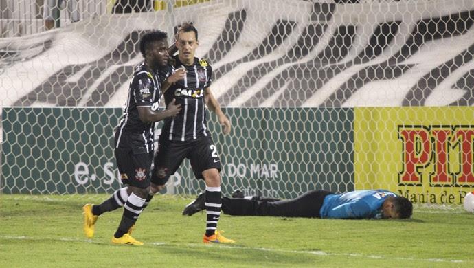 ABC x Corinthians - Rodriguinho comemoração (Foto: Diego Simonetti/Blog do Major)