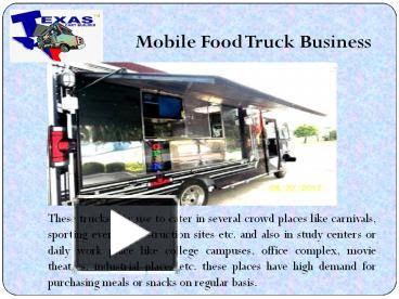 Ppt Mobile Food Truck Business Powerpoint Presentation Free To Download Id 645da3 Zwq5m