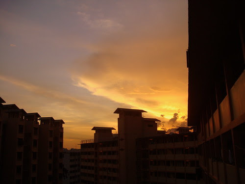 The captivating sunset