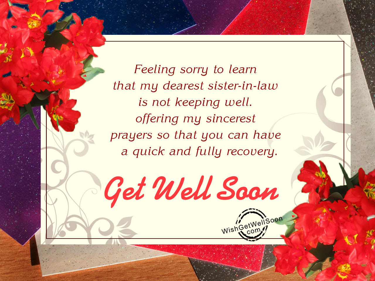 Get Well Soon Wishes For Sister In Law Pictures Images