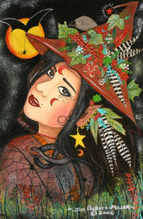 Woodland Witch For Halloween. Free Happy Halloween eCards