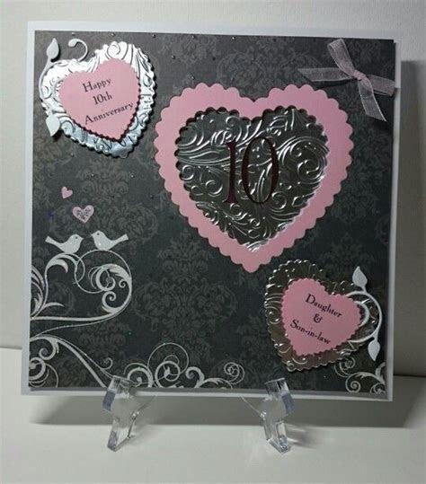 Tin (10th) wedding anniversary card   My cards   Pinterest