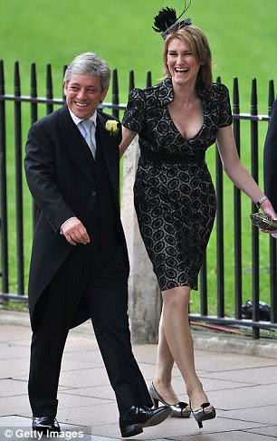 John Bercow and Sally Bercow arrive at Westminster Abbey
