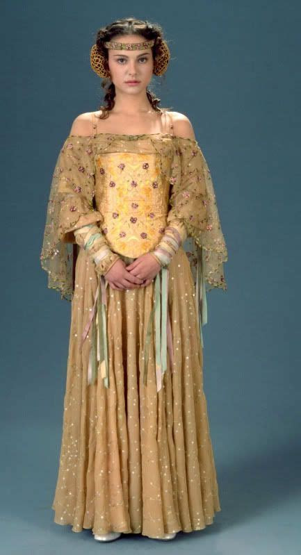 Padme's gown worn by Natalie Portman in Star Wars episode