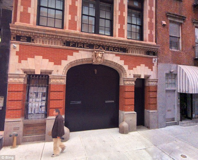 Hausner allegedly kicked in the front door to Cooper's posh converted firehouse, pictured