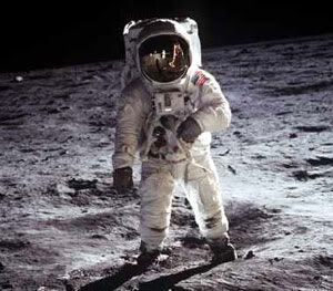Buzz Aldrin poses for the camera