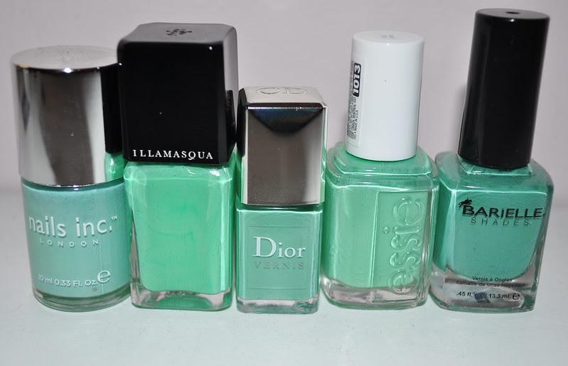 mint green nail polish comparison