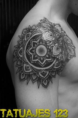 Tatuaje De Mandala Cheap Tatuaje Mandala Y Letras Mandala Tattoo