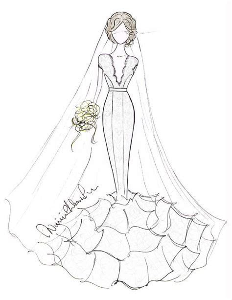 314 best images about Wedding Gown Sketches on Pinterest