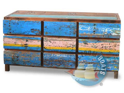 recycled boatwood furniture drawers
