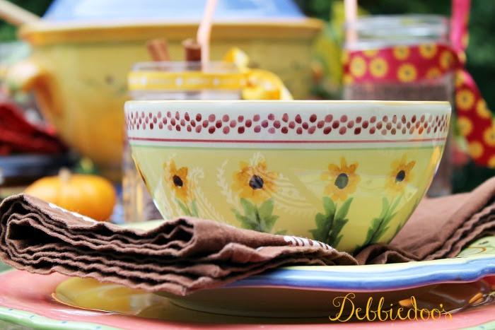 sunflower bowls by pfaltzgraff