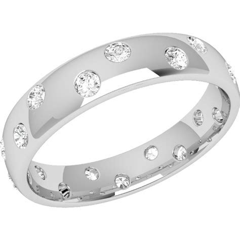 Diamond Set Wedding Ring for Women in Platinum with 18