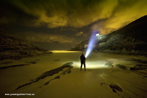 Nocturna Playa de Santa Justa (Led Lenser X21)