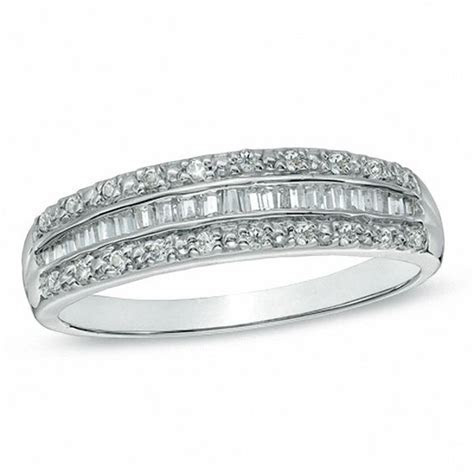 1/4 CT. T.W. Baguette Diamond Band in 10K White Gold
