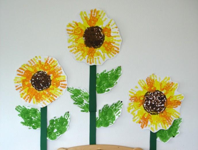 sonnenblume malen kindergarten