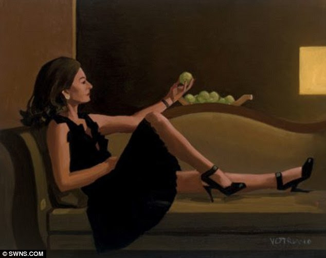 Immortalised: A painting of Original Sin by artist Jack Vettriano in which the sofa is featured