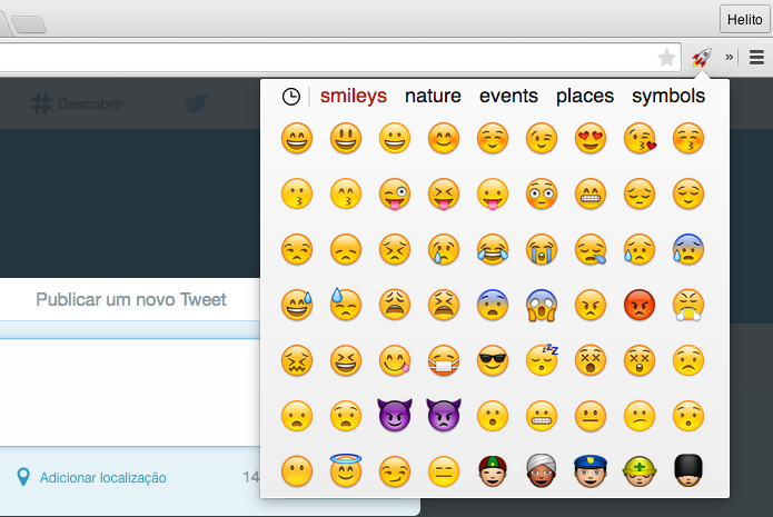 how to put emoticons on twitter